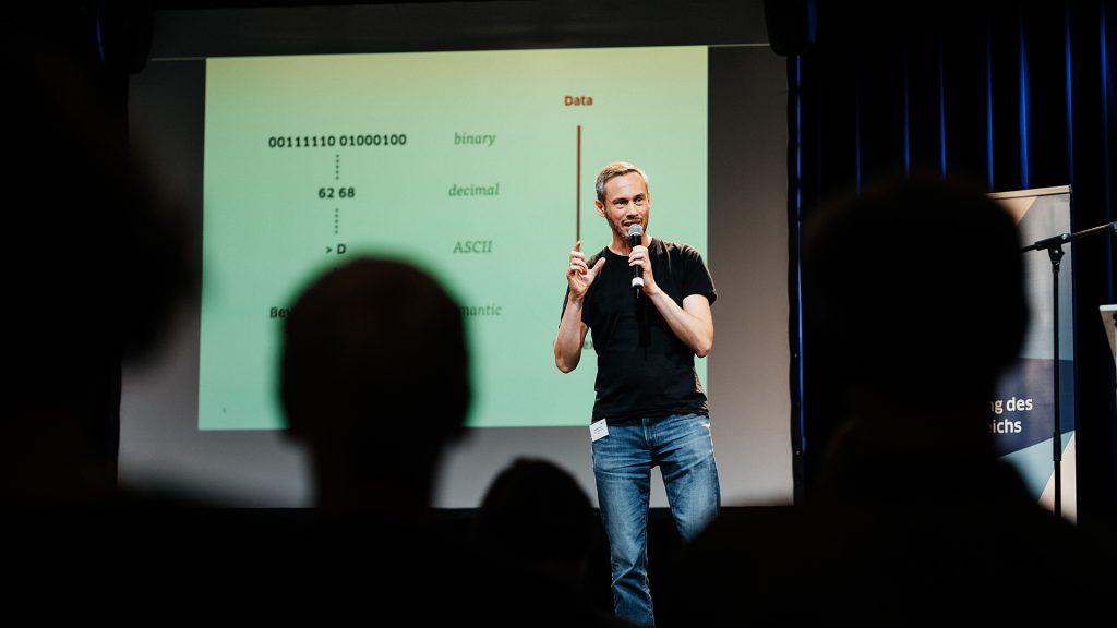 Nicolas Zimmer auf der kulturBdigital Konferenz 2019