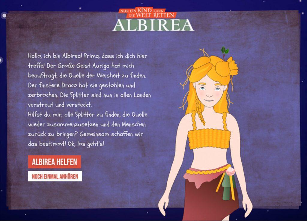 Als Begleitmedium zu ihrem Fantasy-Singspiel 'Albirea – Nur ein Kind kann die Welt retten' entwickelte das ATZE Musiktheater ein Online-Game: Kinder erschließen sich darin vor dem Theaterbesuch spielerisch die Welt der Titelheldin Albirea oder rekapitulieren Aspekte der Handlung. Wie Browsergame und Singspiel verzahnt wurden und worauf es bei der Projektabwicklung ankommt, erklärt Klaus Fermor, Projektleiter des ATZE Musiktheater.