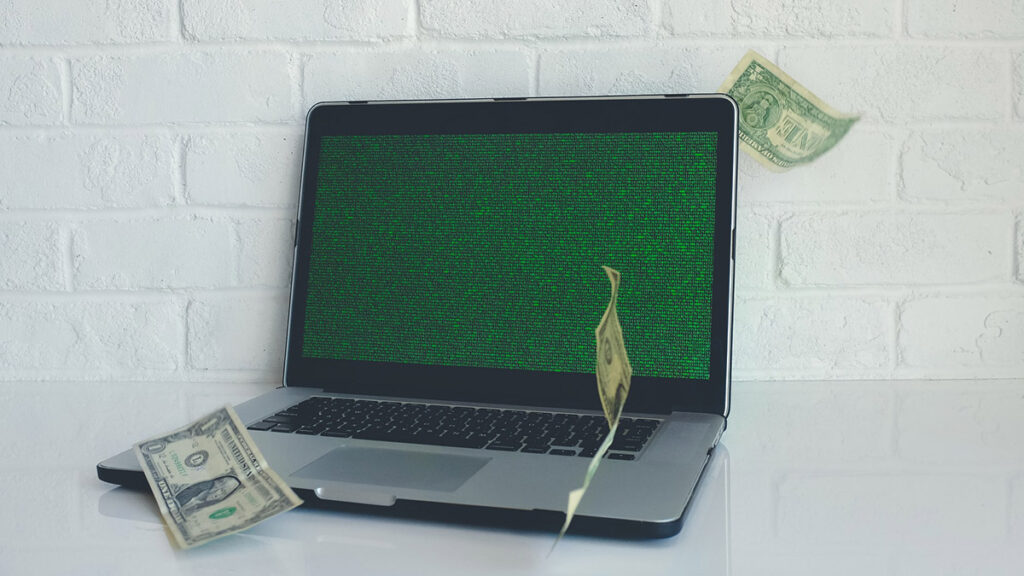 Monetarisierung von und Bezahlmodelle für digitale Kulturangeboten: Symbolbild mit Laptop