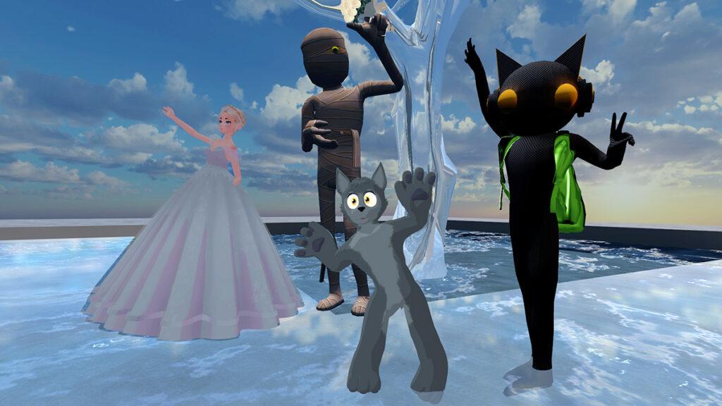 Social VR-Schnappschuss aus der Virtual Reality Plattform VRChat