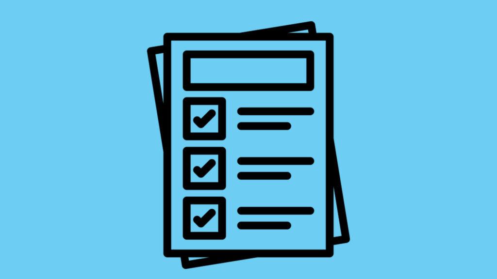 Icon-Darstellung einer Checkliste