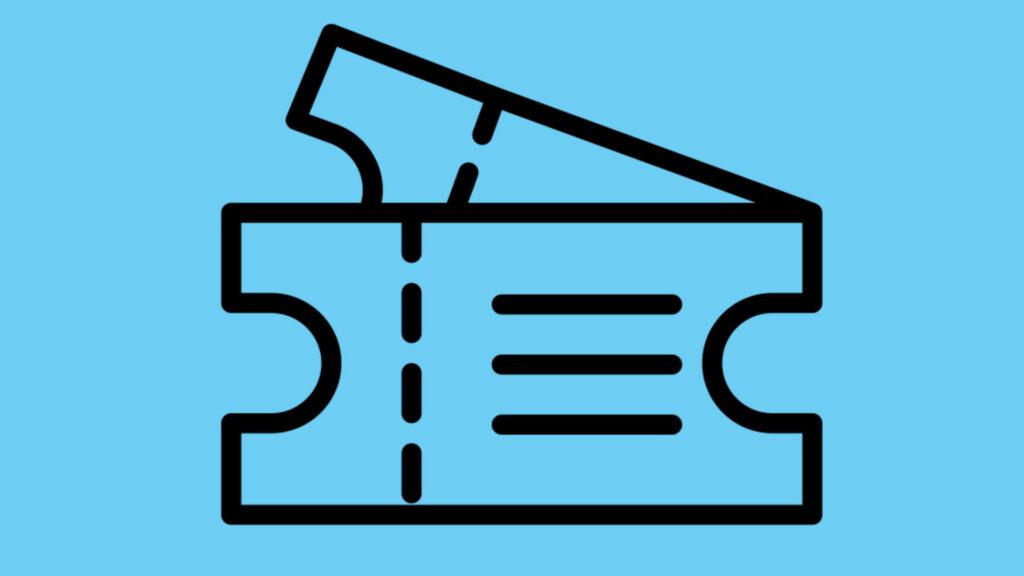 Icon mit zwei stilisierten Tickets