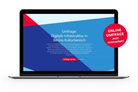 Digitale Infrastruktur in Berlins Kulturbereich: Online-Umfrage gestartet